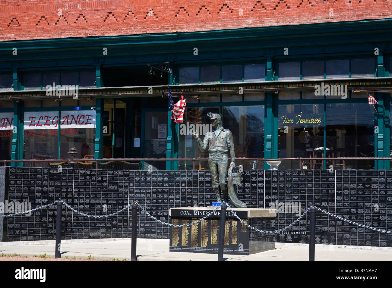 Coal Miners Memorial Historic Roslyn Washington State USA - Stock Image