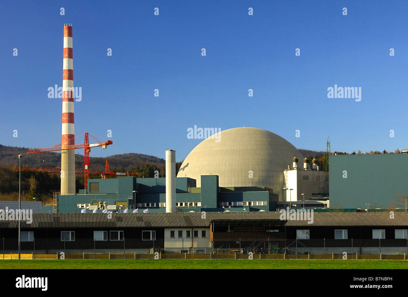 Reactor dome of the nuclear power plant, Goesgen, Switzerland Stock Photo