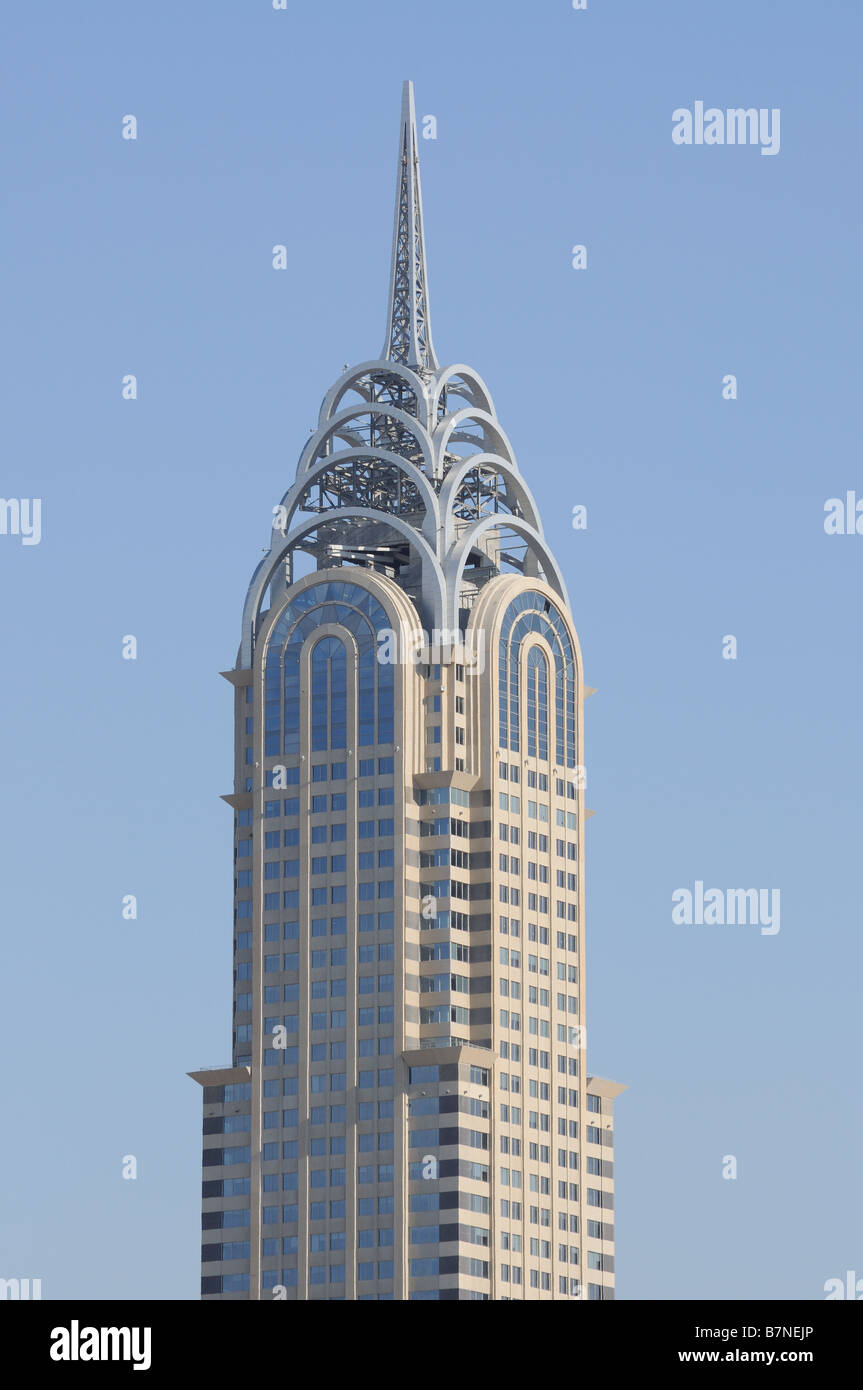 Chrysler Building Copy in Dubai - Stock Image