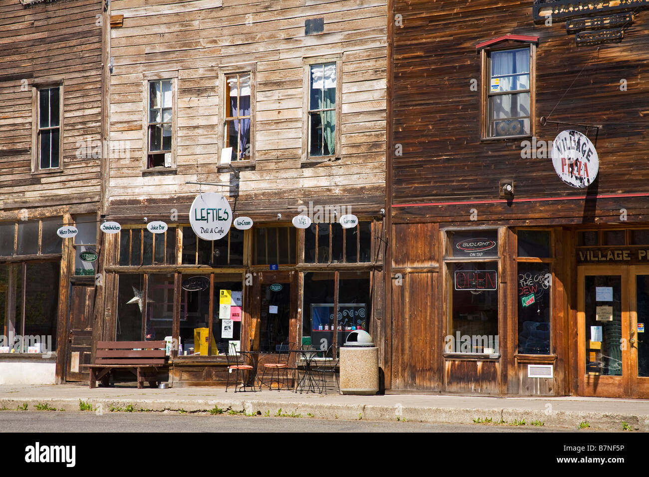 Historic District Roslyn Washington State USA - Stock Image