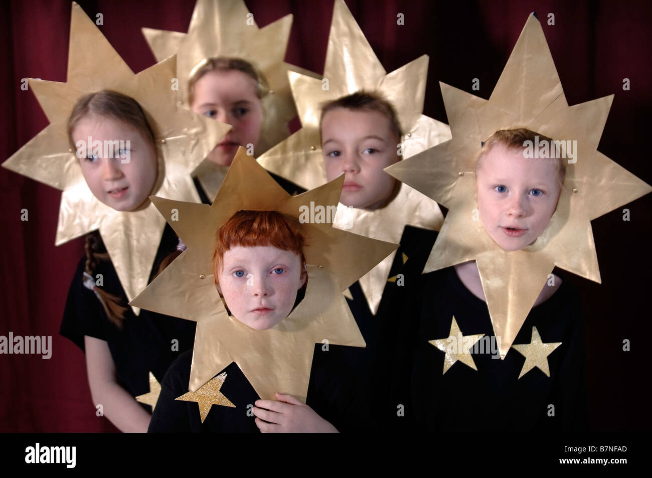 CHILDREN DRESSED IN STAR COSTUMES DURING A PRIMARY SCHOOL NATIVITY PLAY SOMERSET UK - Stock Image  sc 1 st  Alamy & Dressing Up Actors School Play Stock Photos u0026 Dressing Up Actors ...