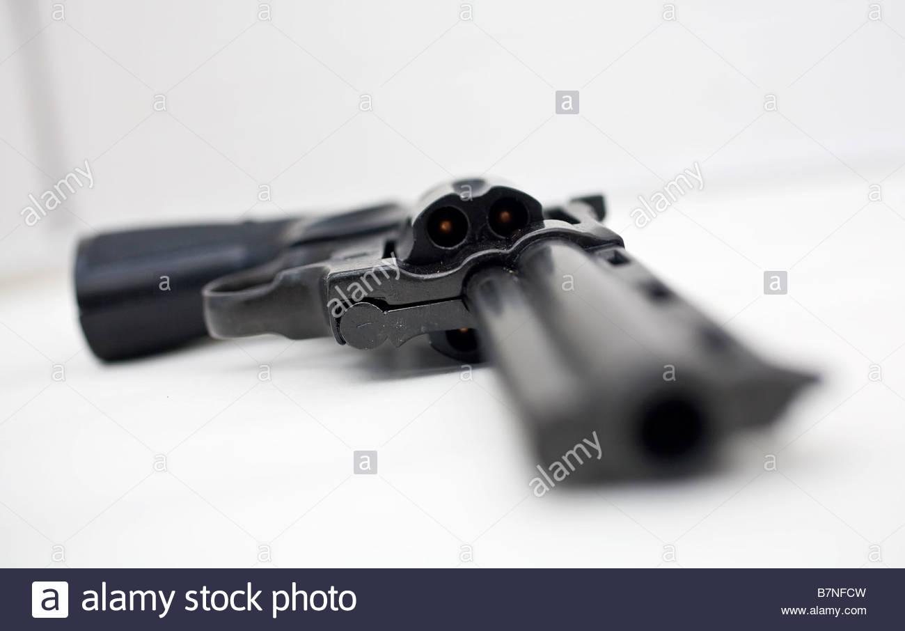 loaded revolvergun - Stock Image