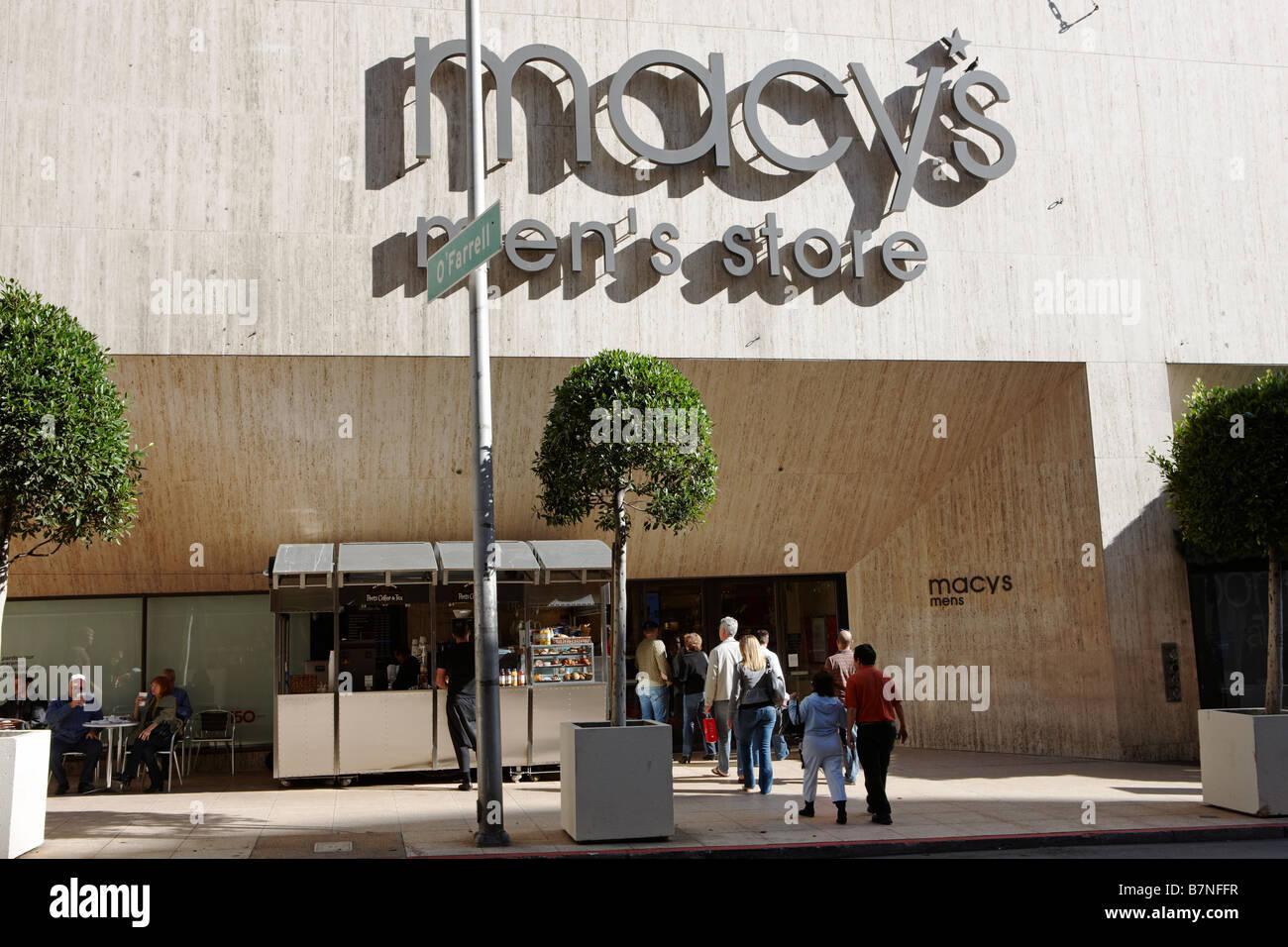 c7e9ccbfd6b1 People entering Macy's men's store. San Francisco, California, USA.