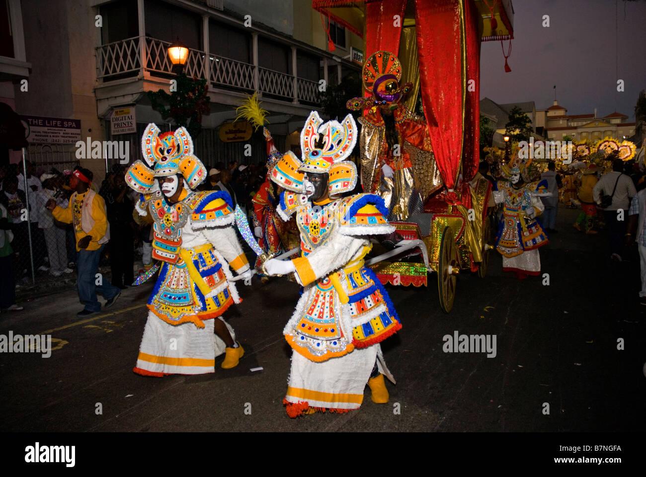 Percy Vola Francis, Chinese Emperor in coach, Saxons, Junkanoo, Boxing Day Parade, Nassau, Bahamas - Stock Image