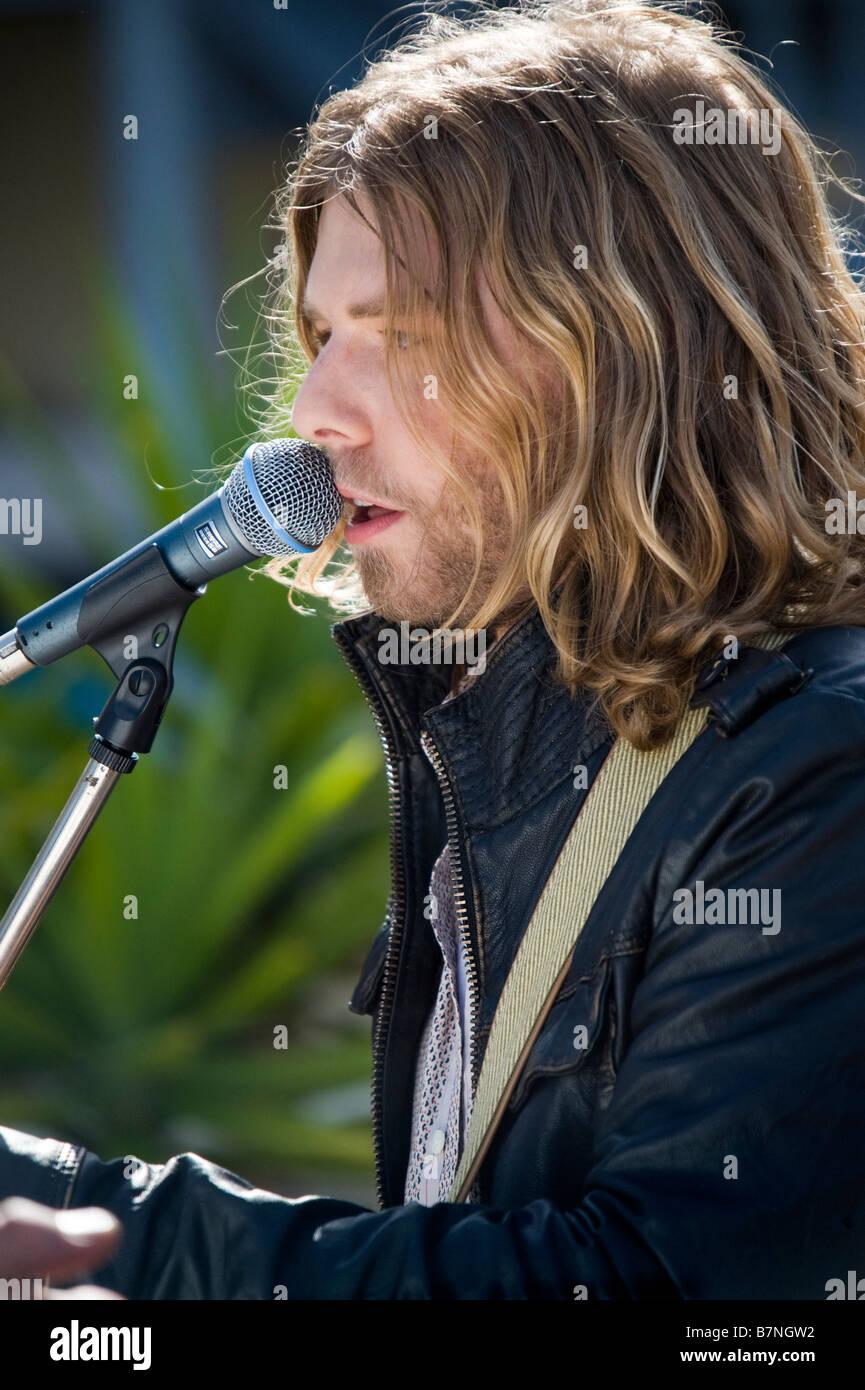Australian singer and songwriter Wes Carr winner of Australian Idol 2008 - Stock Image