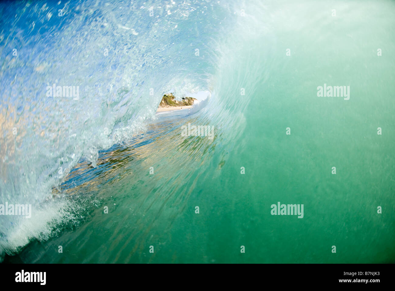 A wave breaking. - Stock Image