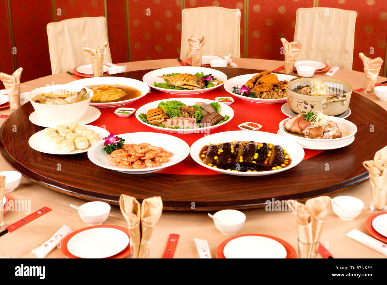 Alamy & Chinese dishes at dining table Stock Photo: 21989267 - Alamy