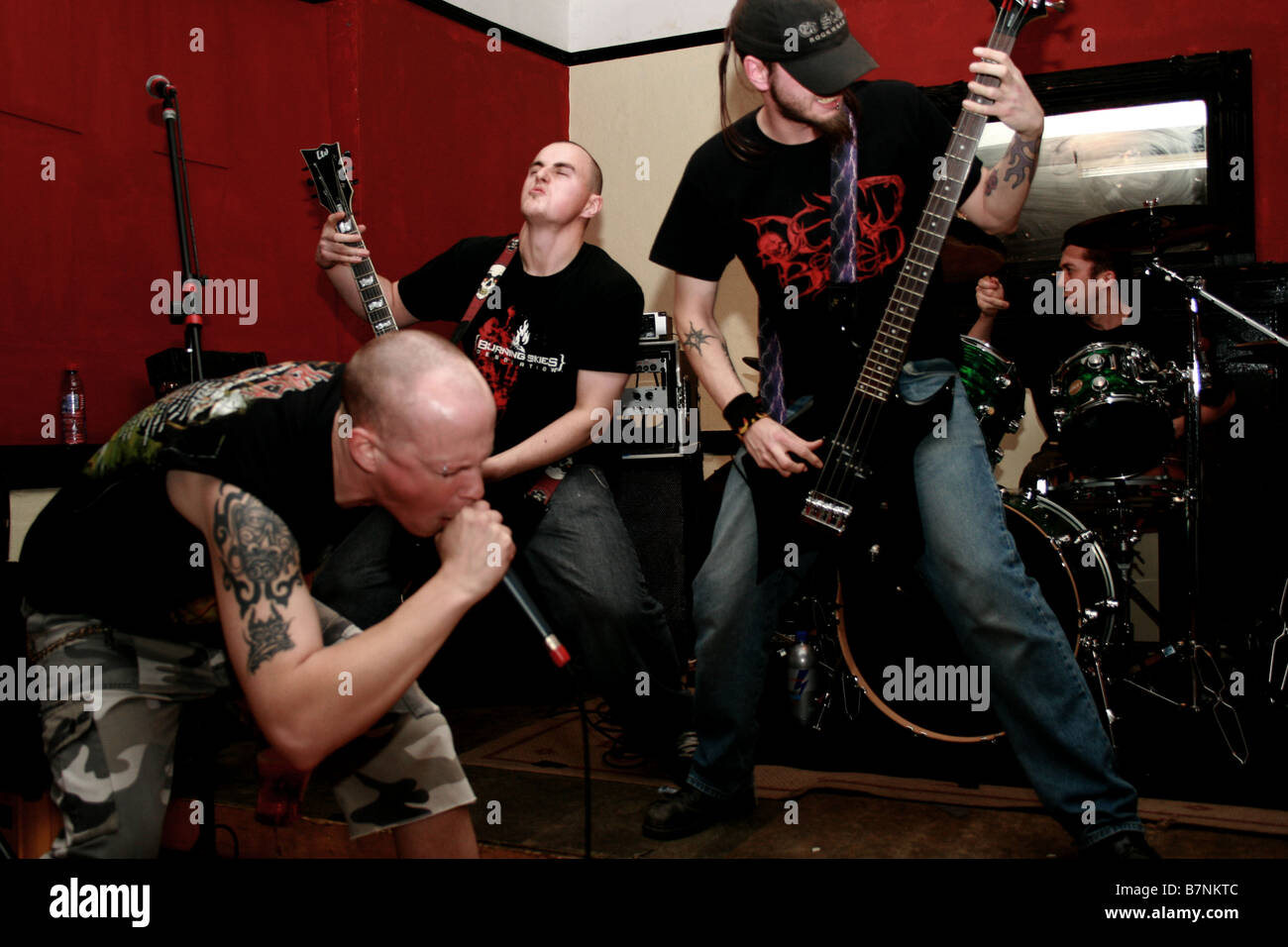 Black Skies Burn Rock Band 2008 - Stock Image