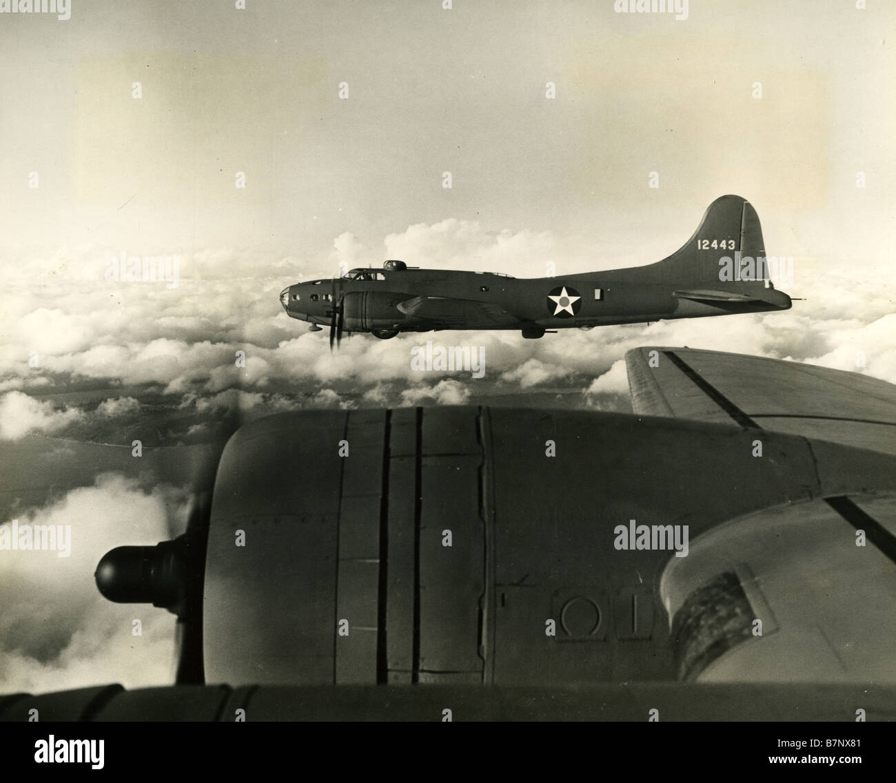BOEING B-17E FLYING FORTRESS of the USAAF  flying from Tunisia in 1943 Stock Photo
