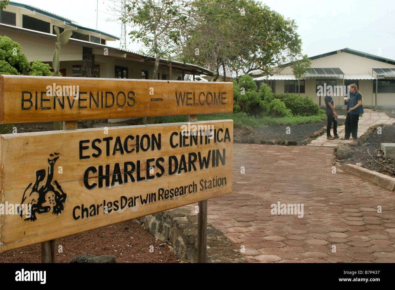 Ecuador Galapagos Santa Cruz Charles Darwin research station - Stock Image