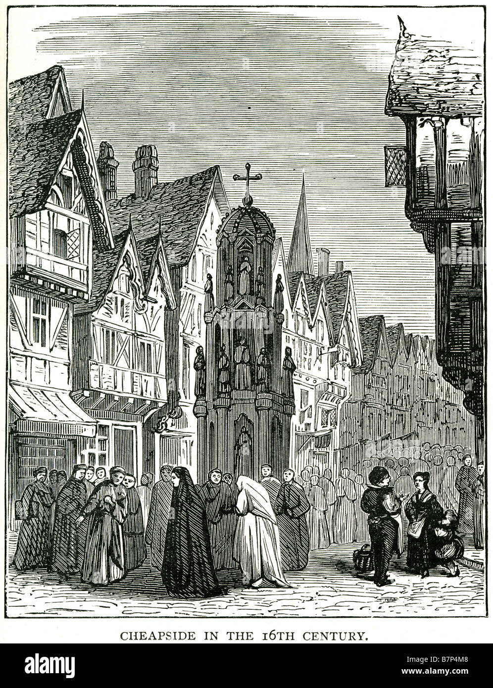 cheapside 16th century street road Cheapside is a street in Cheap ward of the City of London that links Newgate Stock Photo