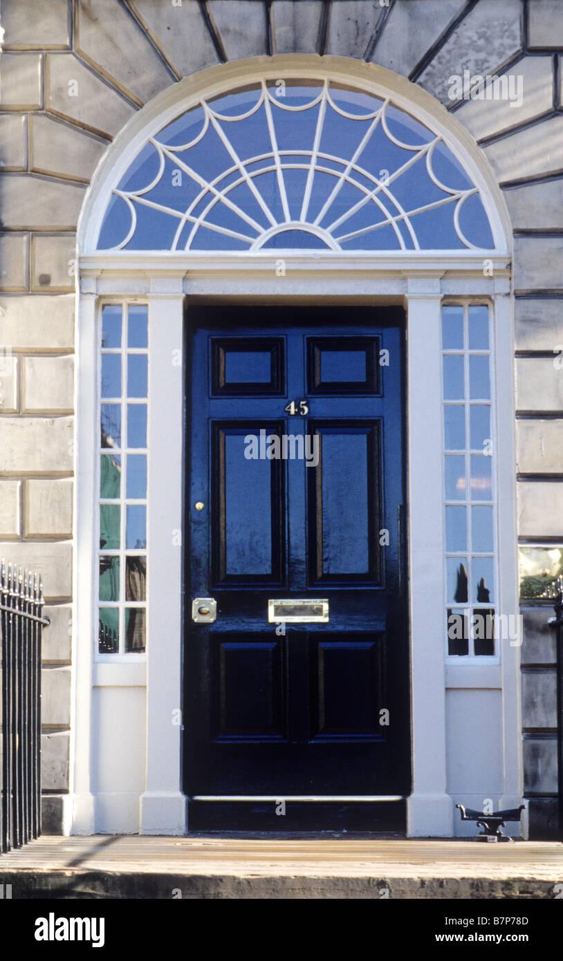 Edinburgh Charlotte Square Georgian House Door Doorway