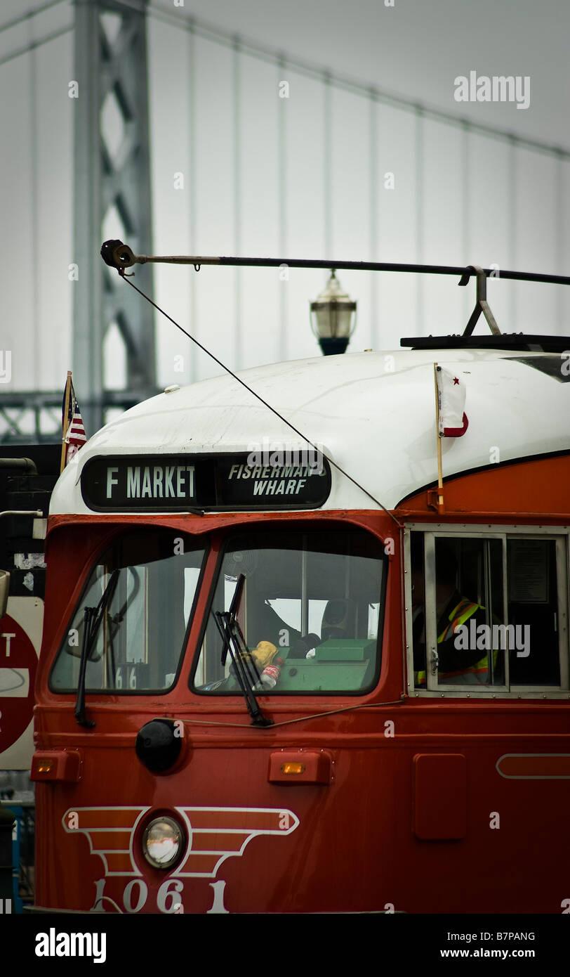 Combination Of San Francisco Symbols Cable Car Suspension Bridge