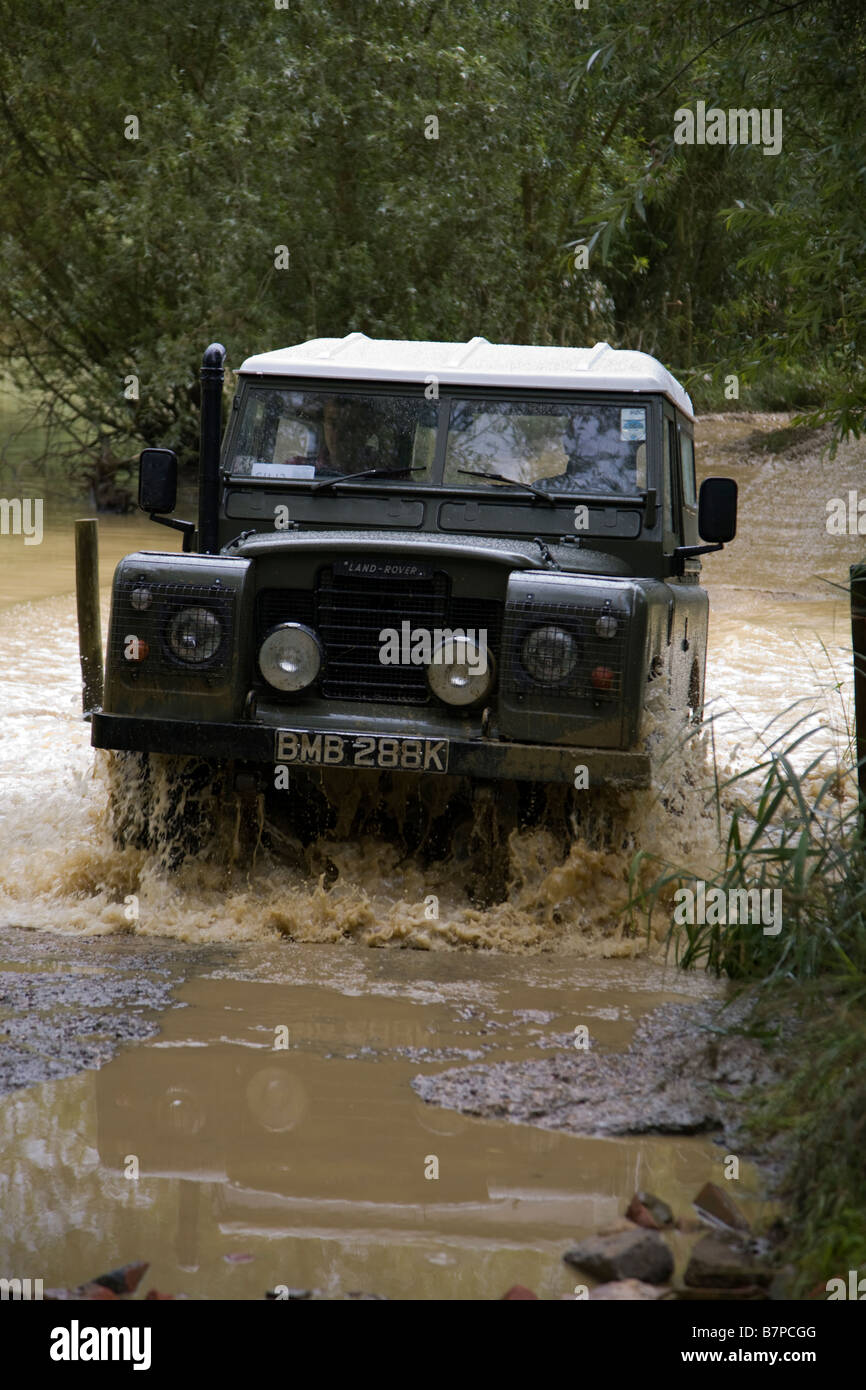 Landrover Series 3 fording - Stock Image