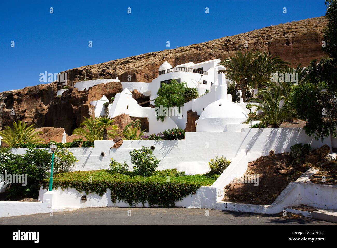 Lagomar, mansion formerly owned by Omar Sharif, Nazareth, Lanzarote, Canary Islands, Spain - Stock Image