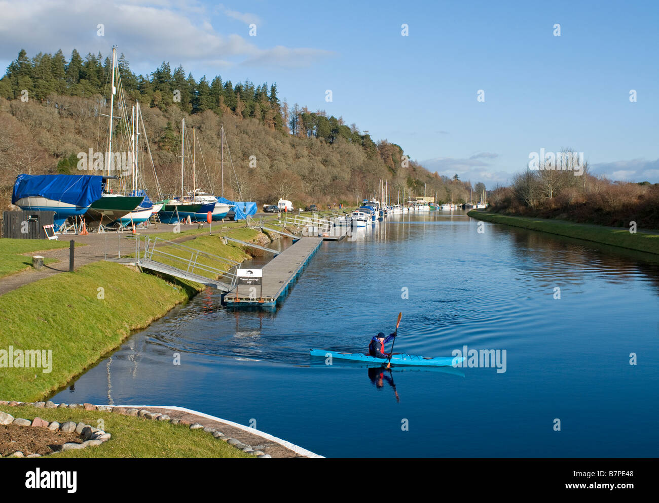 Dochgarroch on the Caledonian Canal South of Inverness Highland Region Scotland UK    SCO 2039 - Stock Image