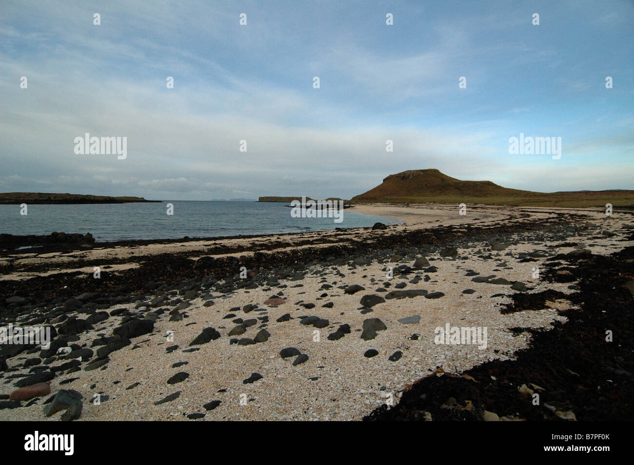 Skye's undiscovered treasures, the Coral Beach is located at the north west tip of the Dunvegan peninsula - Stock Image