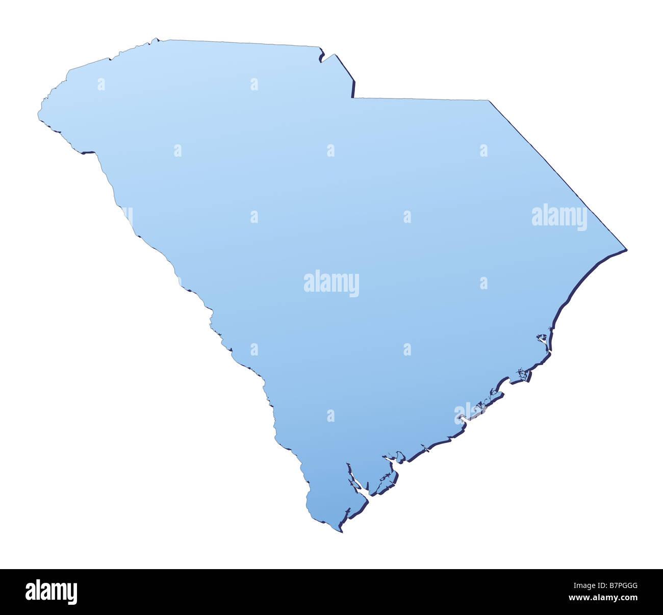 South Carolina Map Stock Photo 22008912 Alamy