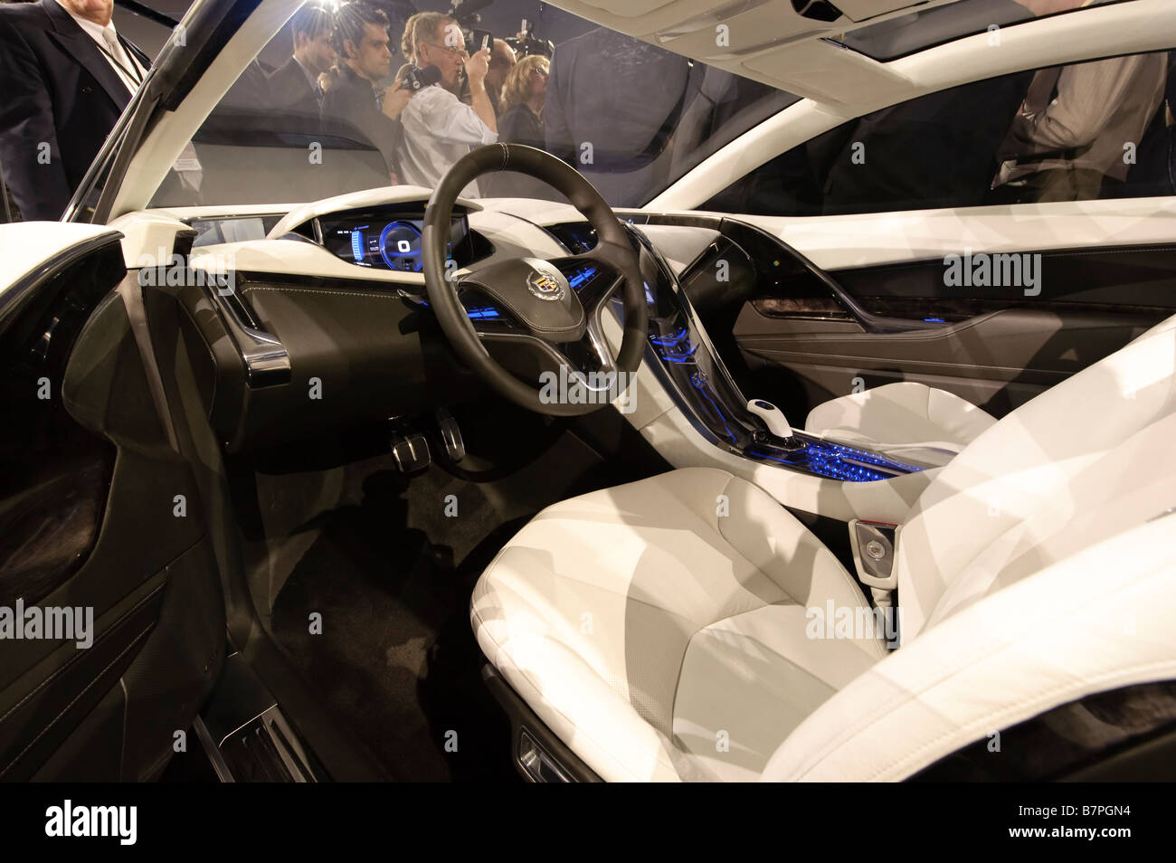 Gm car interior stock photos gm car interior stock images alamy interior of the cadillac converj hybrid concept car at the 2009 north american international auto show publicscrutiny Image collections