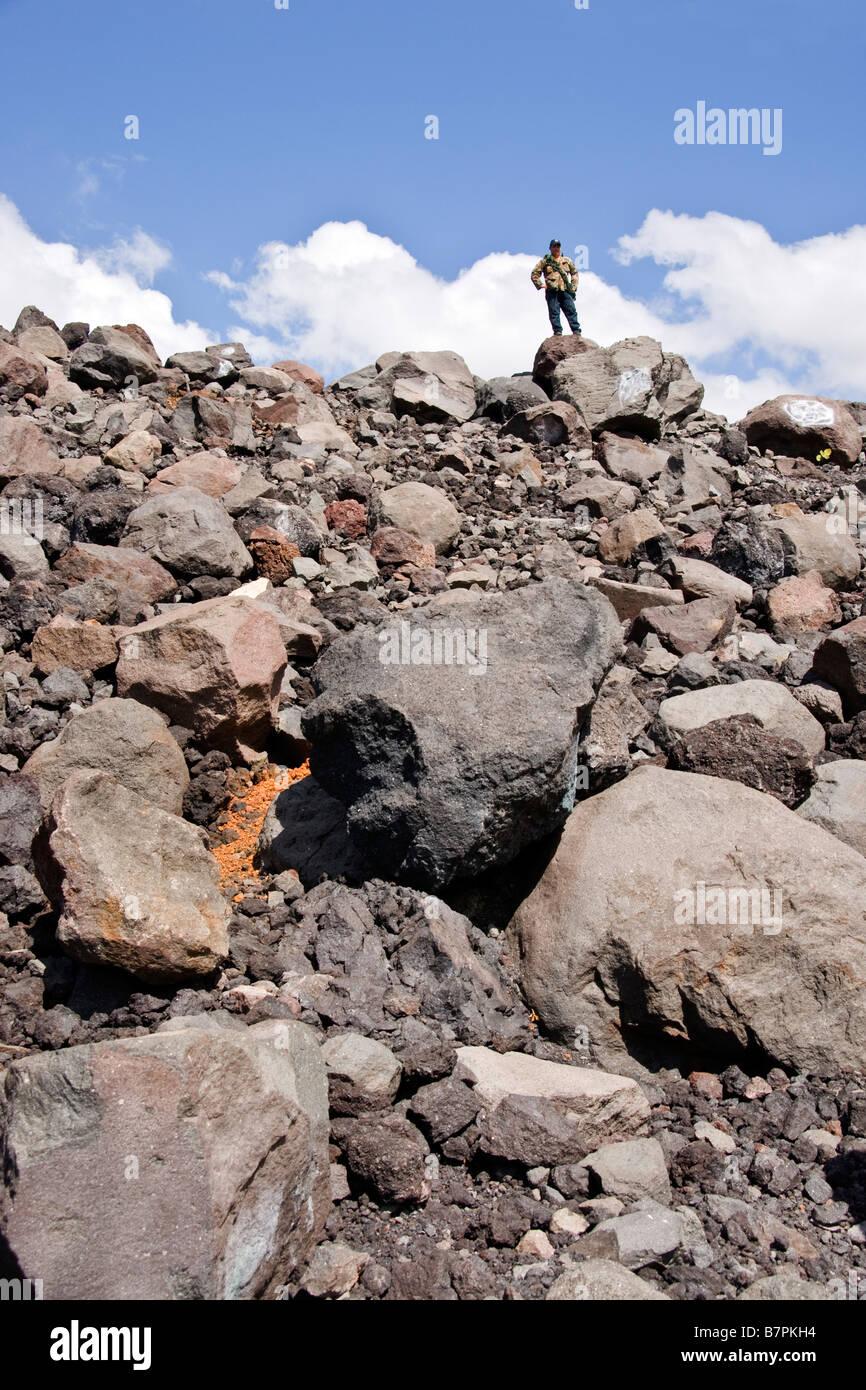 Cerro Negro, volcanic debris at base of mountain - Stock Image