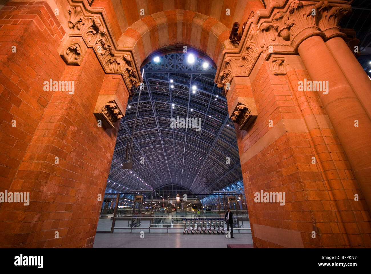 St. Pancras International Station, in November 2008. - Stock Image