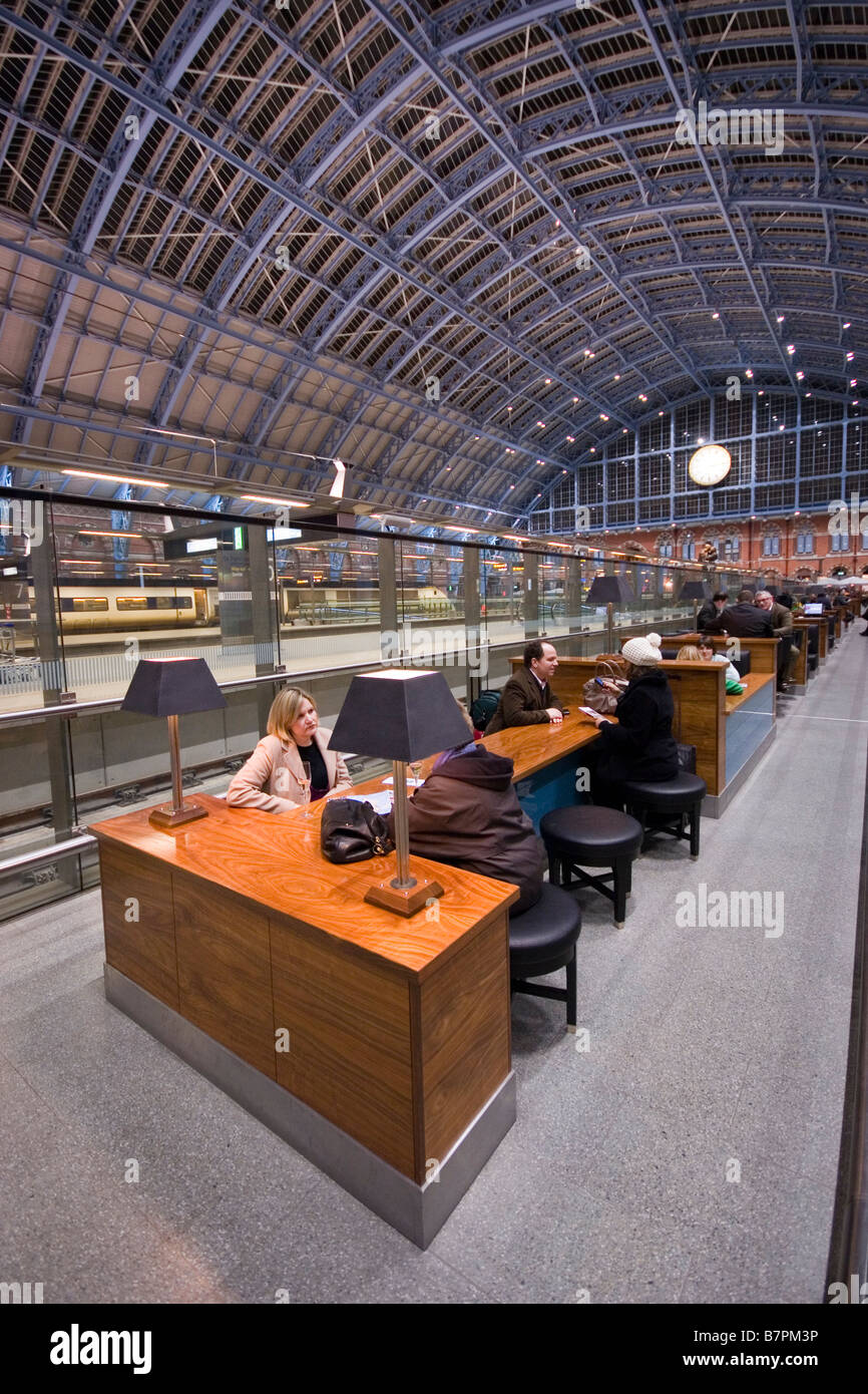 St. Pancras International Station, in November 2008. Stock Photo