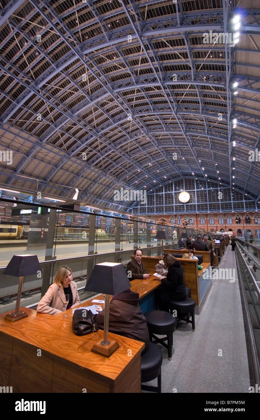 St. Pancras International Station, in November 2008. Stock Photo