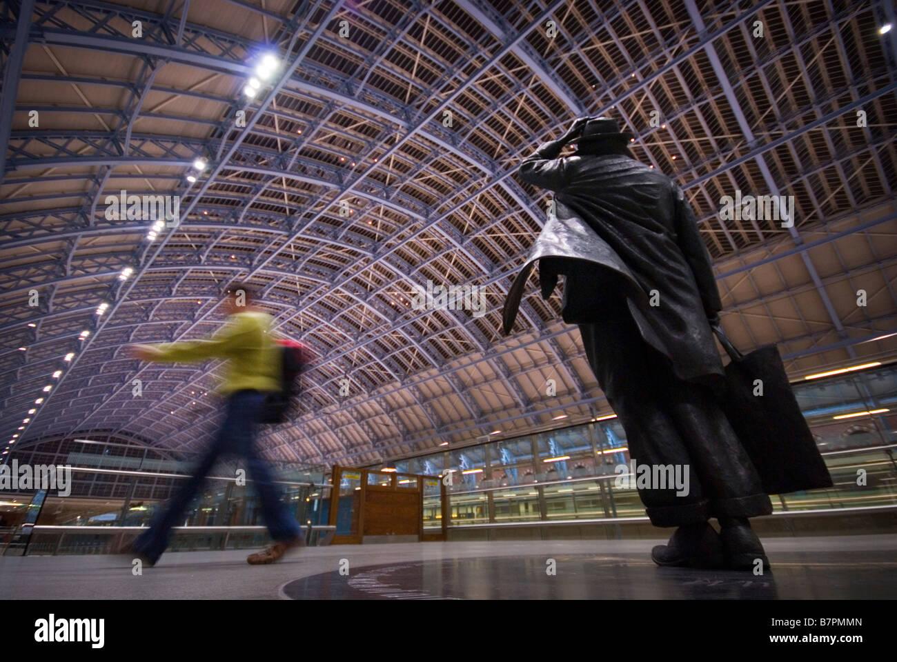 St. Pancras International Station, in November 2008. - Stock Image