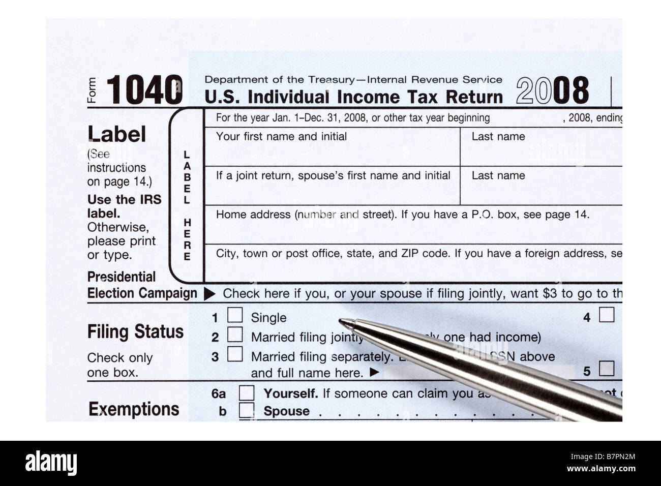 1040 Income Tax Form Stock Photos 1040 Income Tax Form Stock