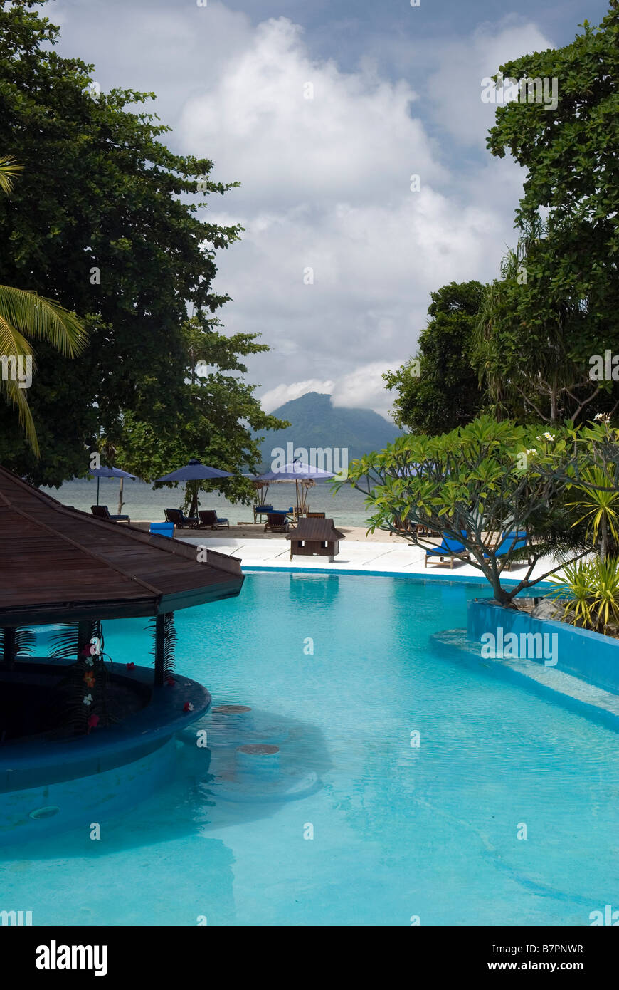 Siladen Island Resort and Spa, Sulawesi - Stock Image