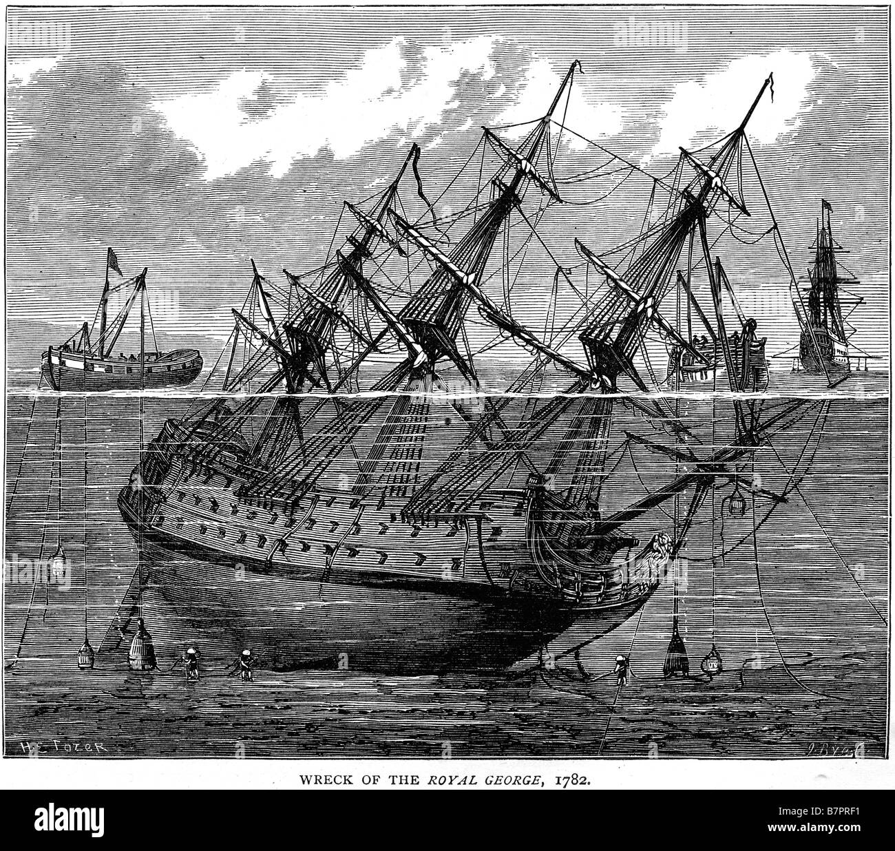 Wreak Royal George 1782 Ship war sunk divers salvage Battle ship Fleet sea  Water Sailing Sail Wreak marine navy maritime naval H