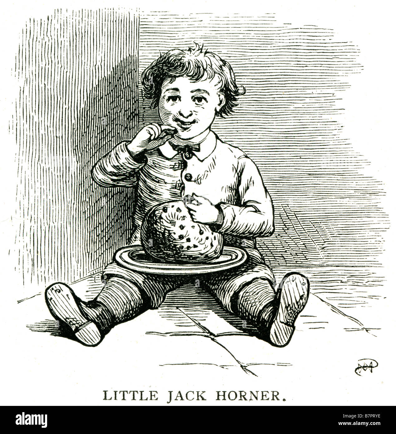 Little Jack Horner Nursery Rhyme Little Jack Horner is a nursery rhyme. It has the Roud Folk Song Index number of - Stock Image