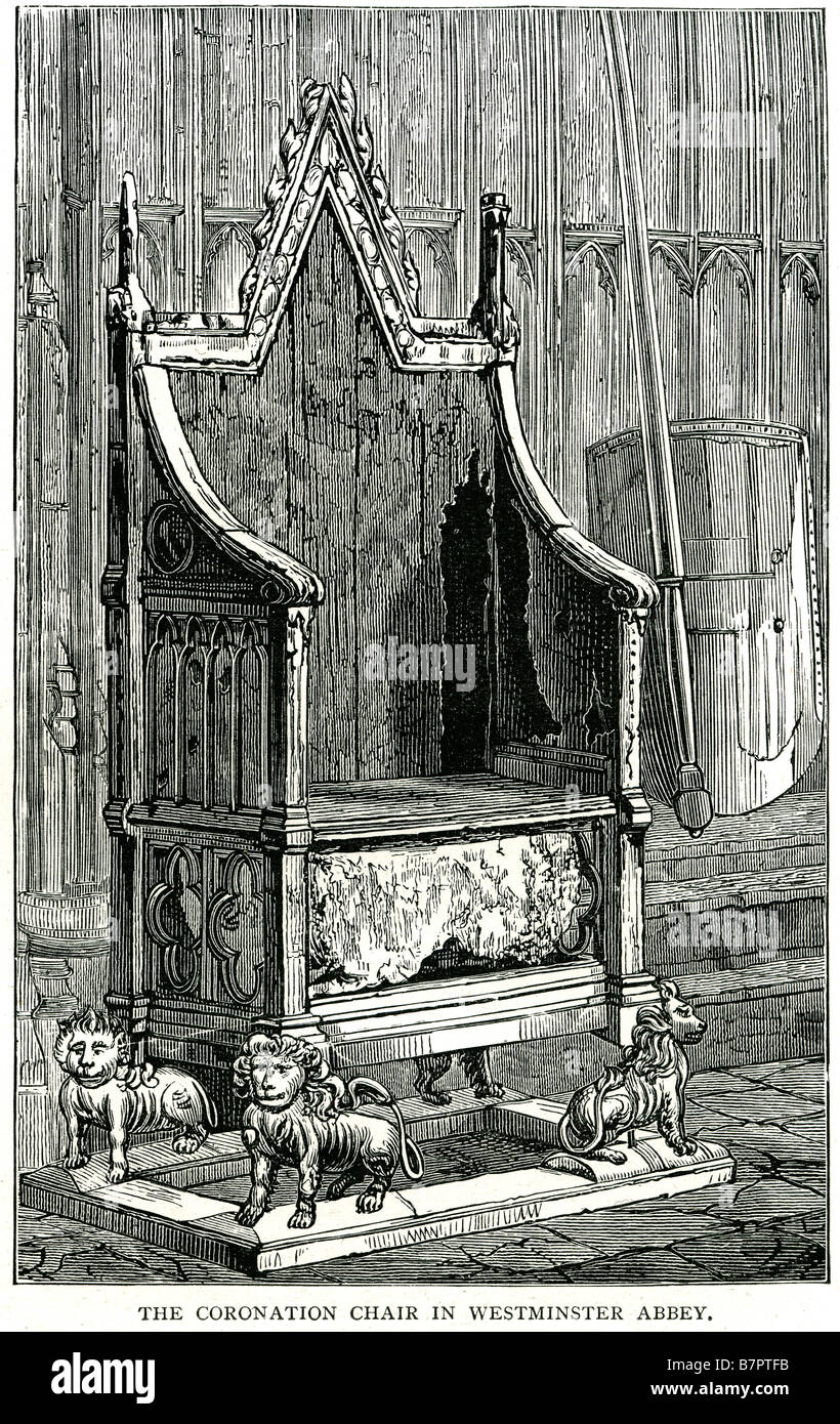Coronation Chair Westminster Abbey Throne Stone Of Scone