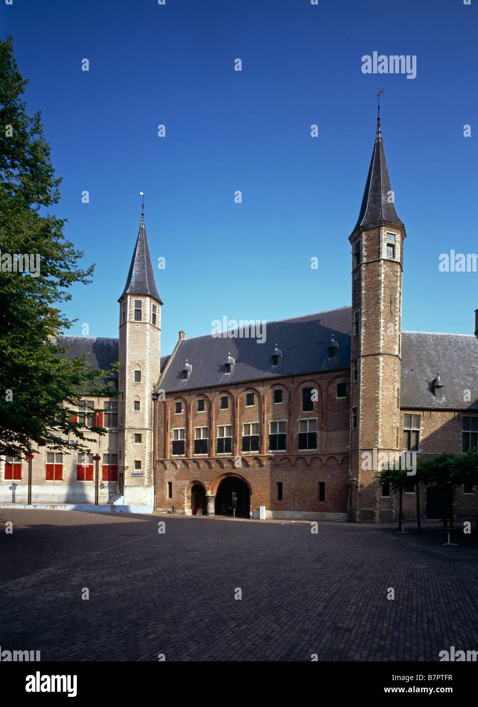 Middelburg, Abtei 'Onze Lieve Vrouwe', Waagentor - Stock Image