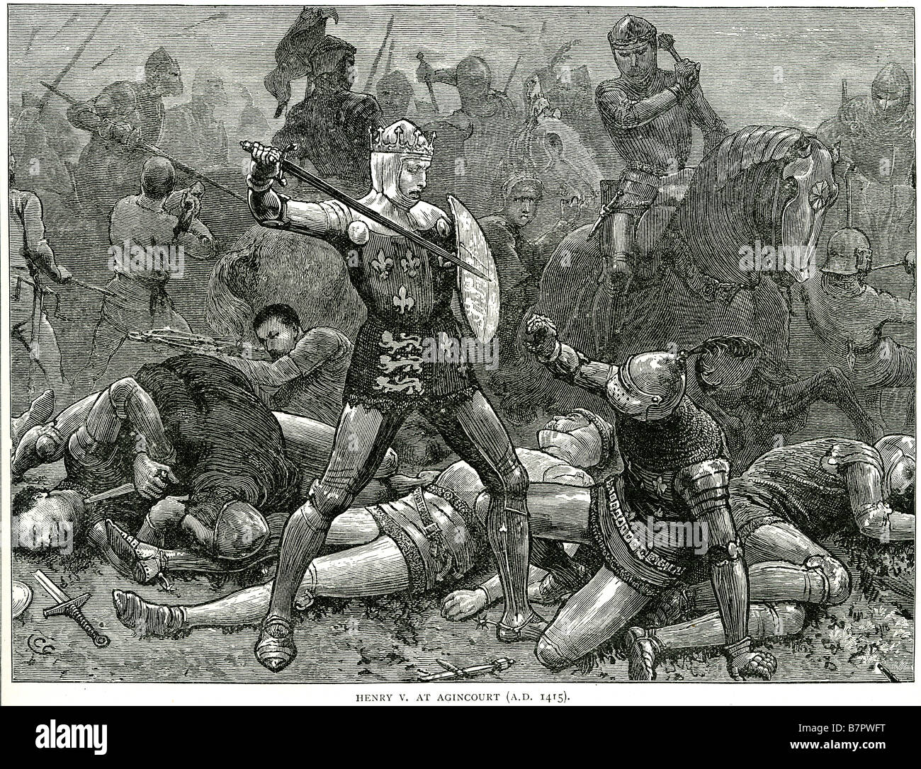 Agincourt Battle 1415 Stock Photos and Images