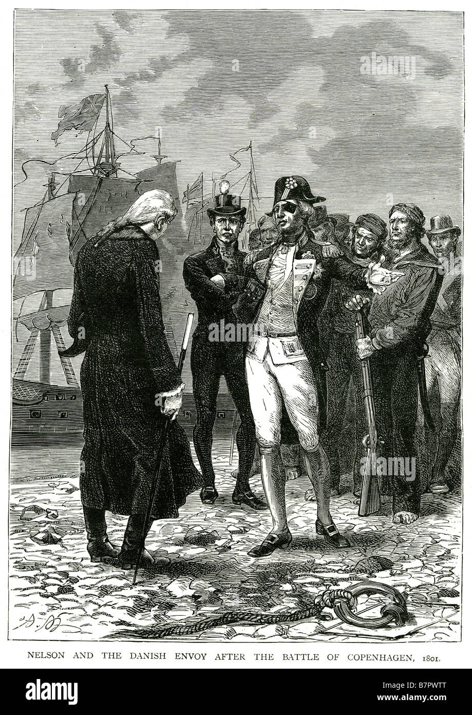 nelson and the danish envoy after the battle of copenhagen 1801 In the  Battle of Copenhagen (Danish: Slaget på Reden), a British