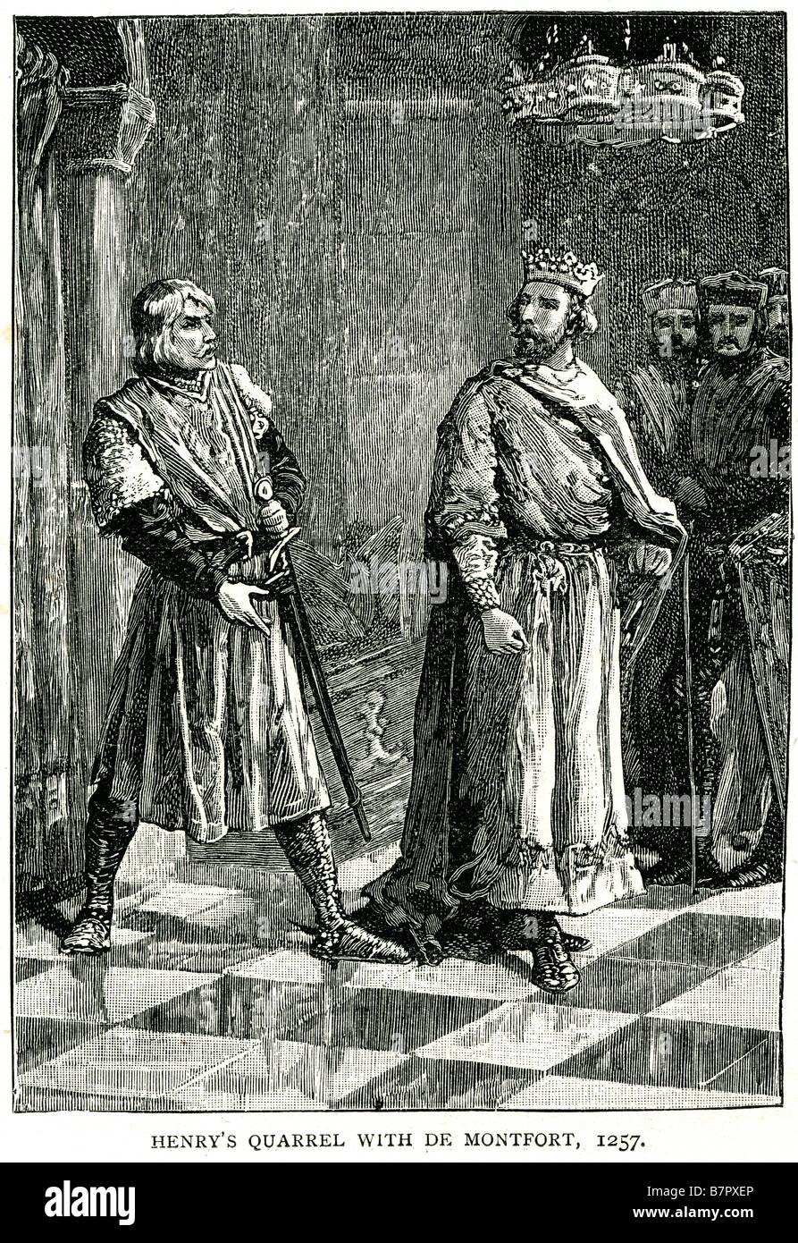 Hennry Quarrel De Montfort 1257 Court royal king Henry of Antioch (b. 1198-1217, d. June, 1276),[1] alternately - Stock Image