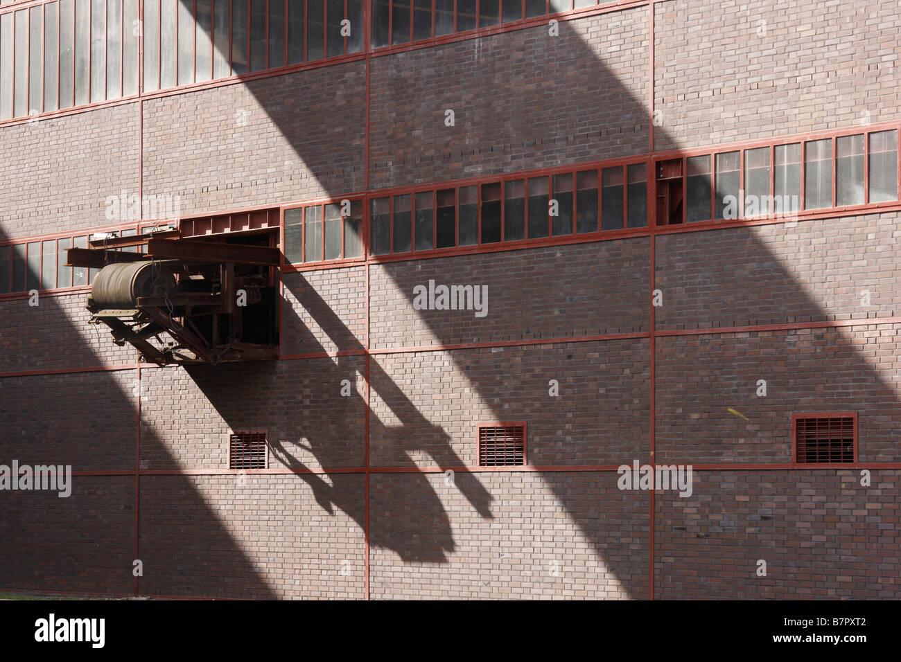 Essen, Zeche Zollverein, Schacht XII, Detail der Kohlenwäsche - Stock Image