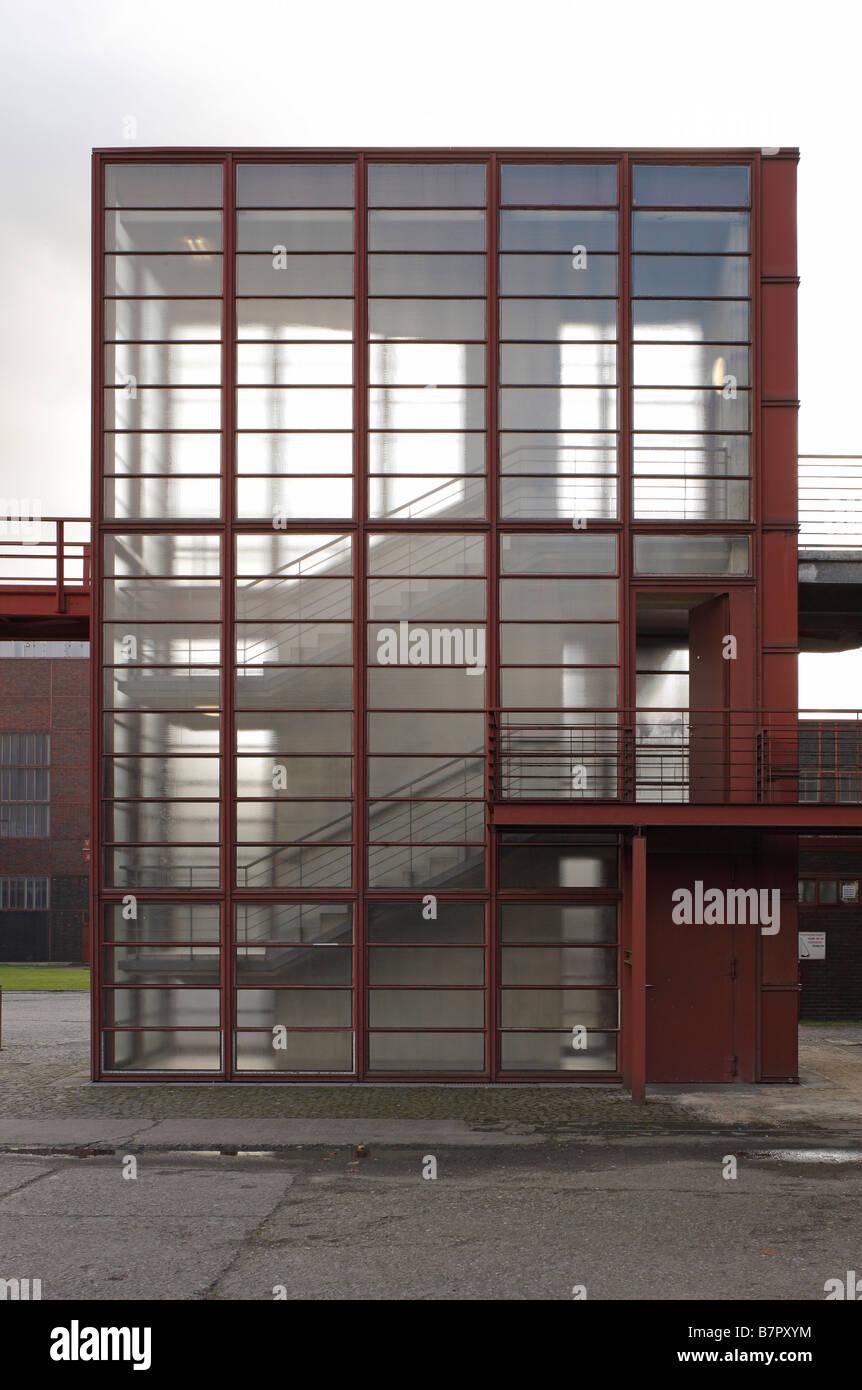 Essen, Zeche Zollverein, Schacht XII, Treppenturm zur Lesebandhalle - Stock Image