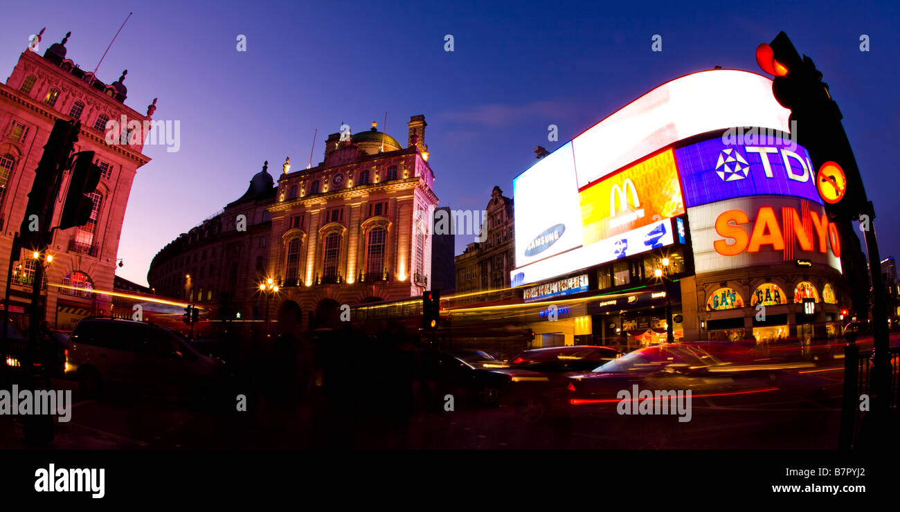 Piccadilly Circus in London. - Stock Image