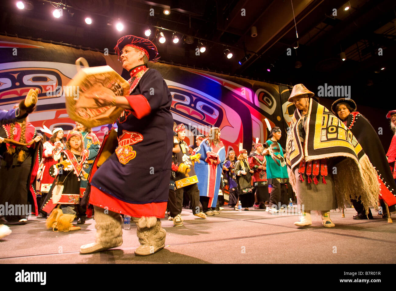 Sealaska Heritage Institute Tlingit, Haida, and Tsimshian Celebration 2008, Juneau, Alaska - Stock Image