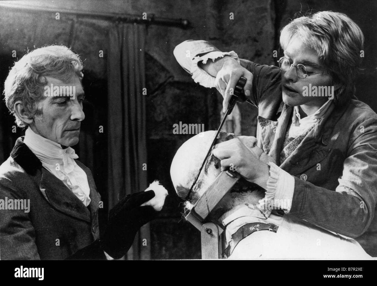 Frankenstein and the Monster from Hell  Year: 1974 UK Peter Cushing shane briant  Director: Terence Fisher Stock Photo
