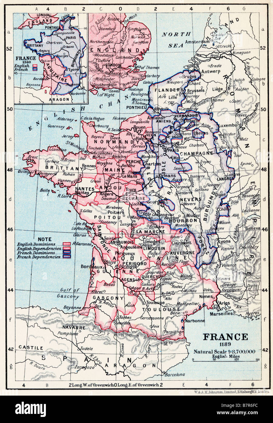 English Map Of France.France Map Stock Photos France Map Stock Images Alamy