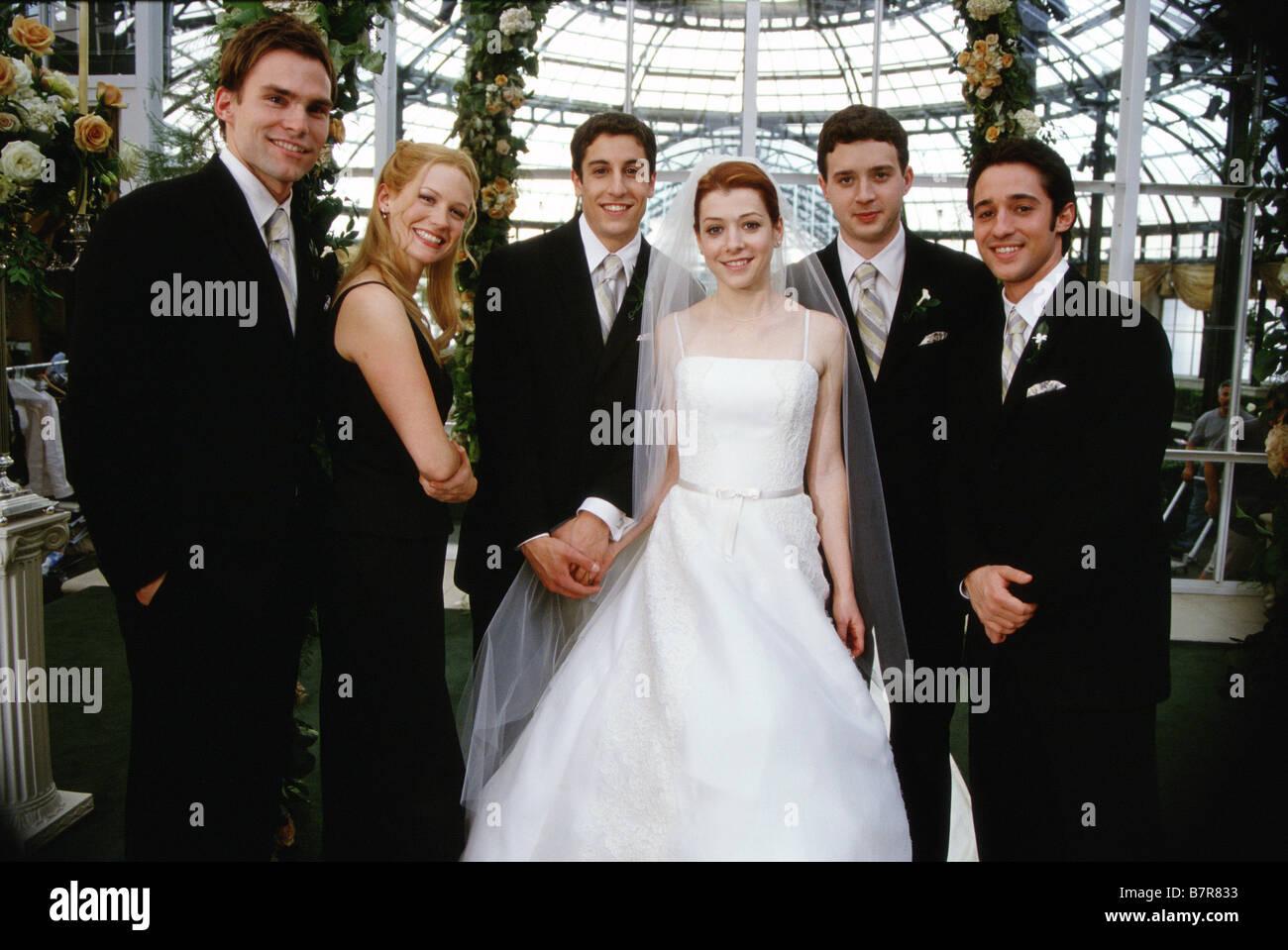 American Wedding  Year: 2003 USA  Eddie Kaye Thomas, Thomas Ian Nicholas, January Jones  Year: I - , Seann William - Stock Image