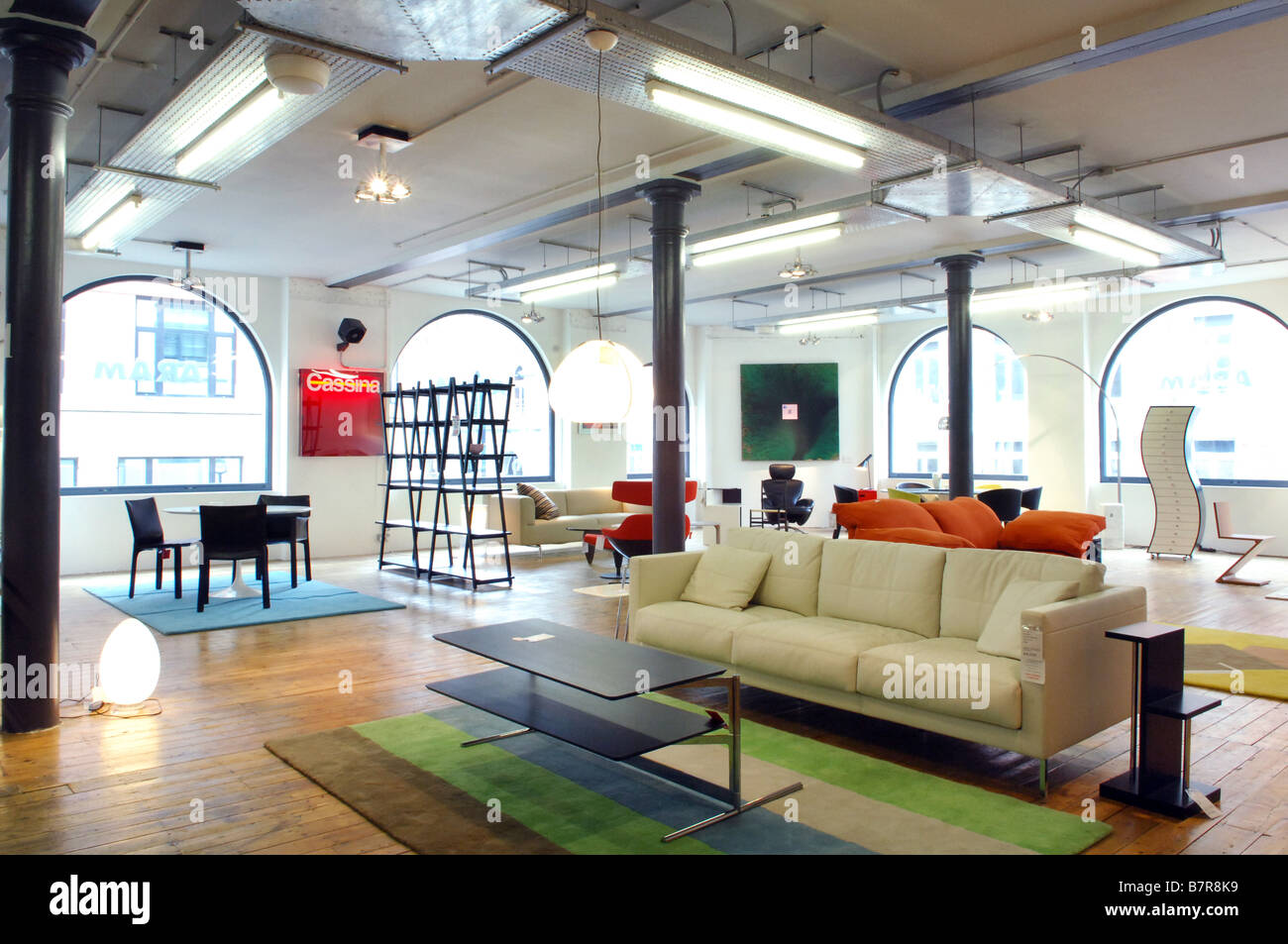 Furniture For Sale In A Designer Furniture Store.   Stock Image