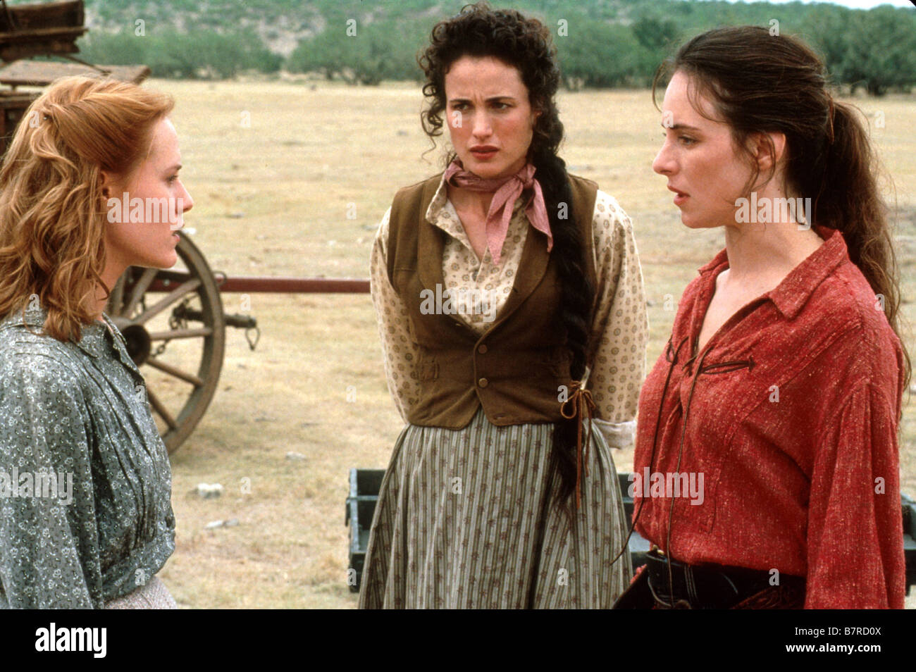 Les belles de l'ouest Bad Girls  Year: 1994  USA Andie MacDowell, Mary Stuart Masterson, Madeleine Stowe  Director: Stock Photo