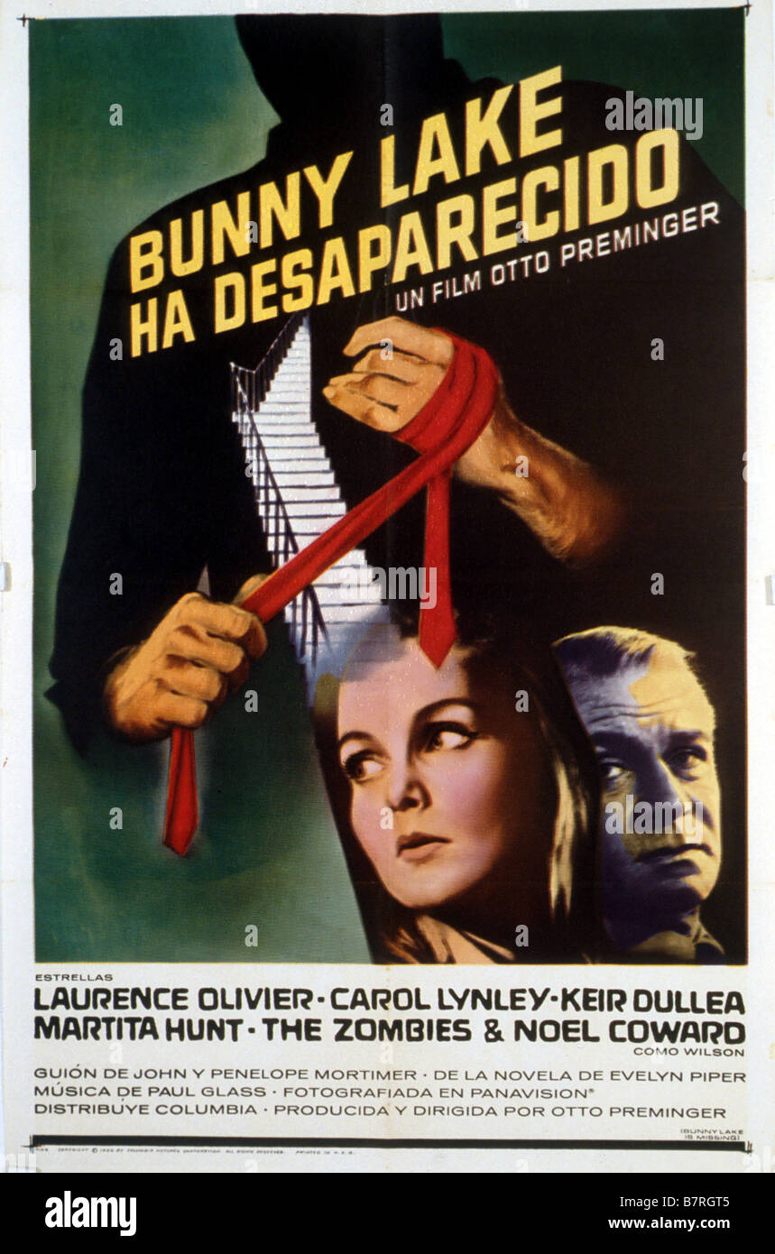 Bunny Lake Is Missing  Year: 1965 USA Director : Otto Preminger Movie poster (Sp) - Stock Image