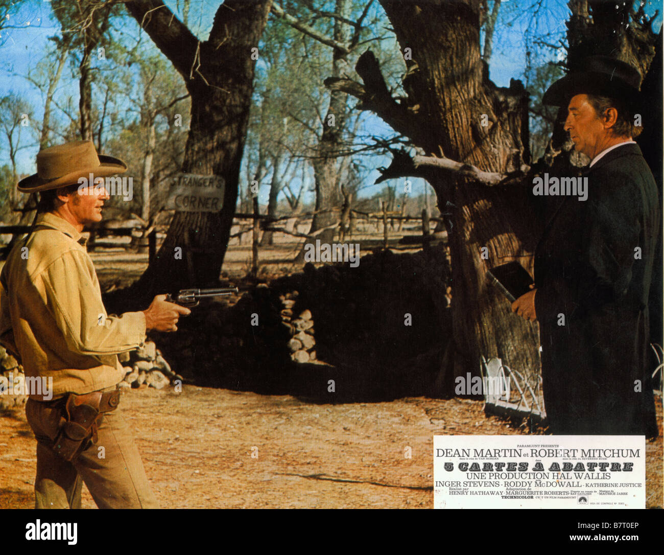 5 Year Cinq Cartes A Abattre 5 Card Stud Year 1968 Usa Robert Mitchum Roddy Mcdowall Director Henry Hathaway