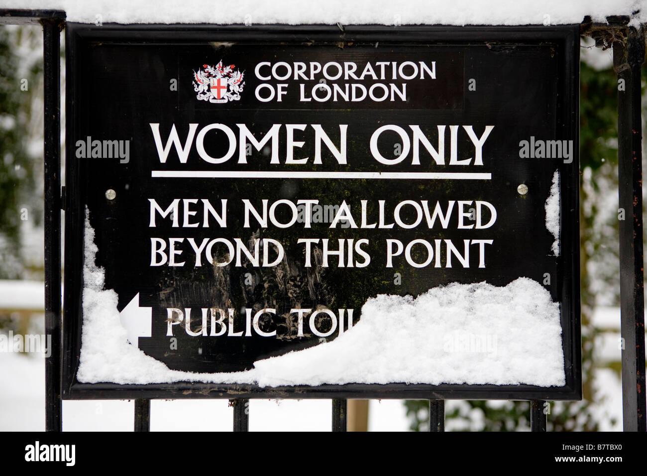 Woman Only Pond On Hampstead Heath London UK Europe - Stock Image