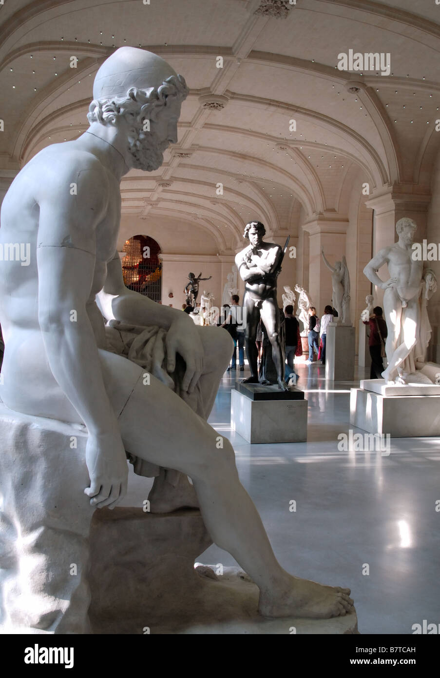 Sculpture Gallery in the Palais des Beaux Arts, Lille, France Stock Photo
